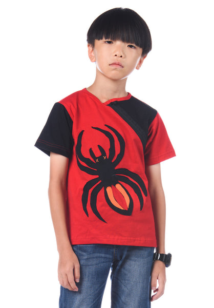 Spider Patchwork T-Shirt - Red