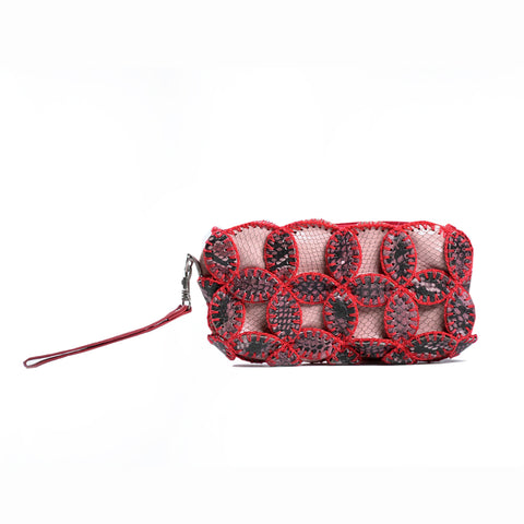 Leather Pouch - Red