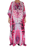 CHIFFON SHIBORI WITH AZTEC MOTIF - BECAN