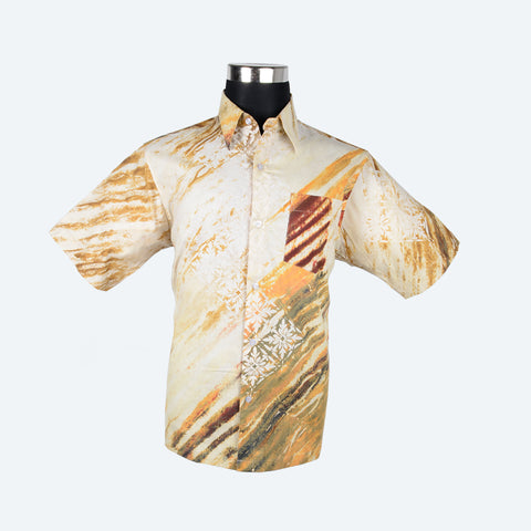 Batik Short Sleeve Shirt - Design 1