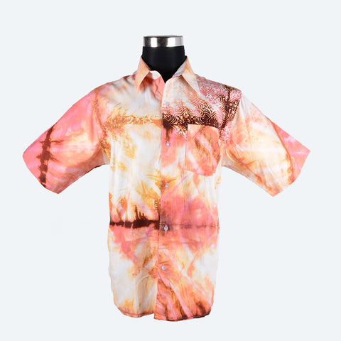 Batik Short Sleeve Shirt - Design 3