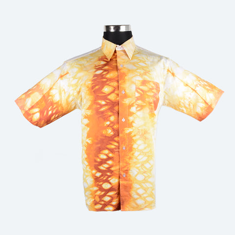 Batik Short Sleeve Shirt - Design 5