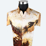 Batik Short Sleeve Shirt - Design 8