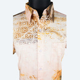 Batik Short Sleeve Shirt - Design 10