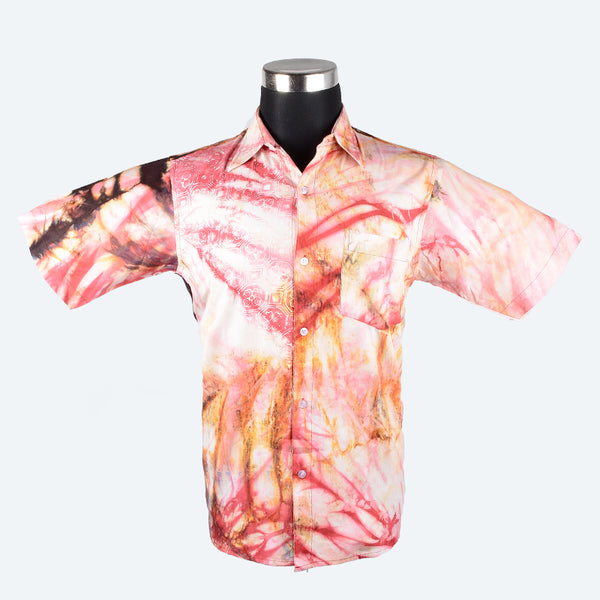 Batik Short Sleeve Shirt - Design 11