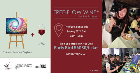 SIP AND PAINT BANGSARIA STRAITS WINE COMPANY FREE FLOW WINE ART BANGSAR