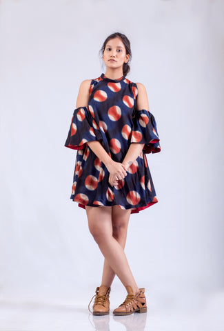Dawn - Split Sleeve Short Dress
