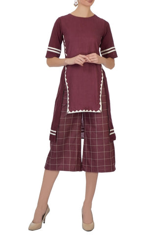 Yana – Burgundy Tunic