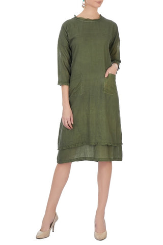Cherokee - Olive  Green Dress