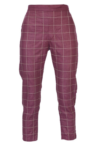 Ankle pants – Burgundy