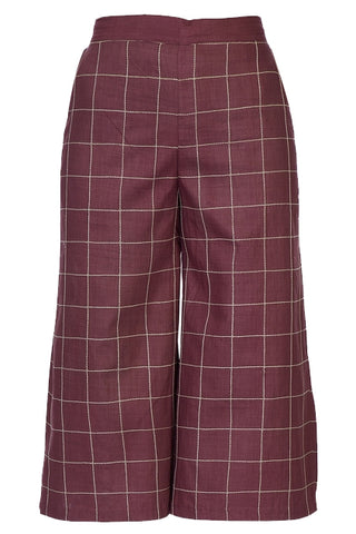 Culotte Pants – Burgundy