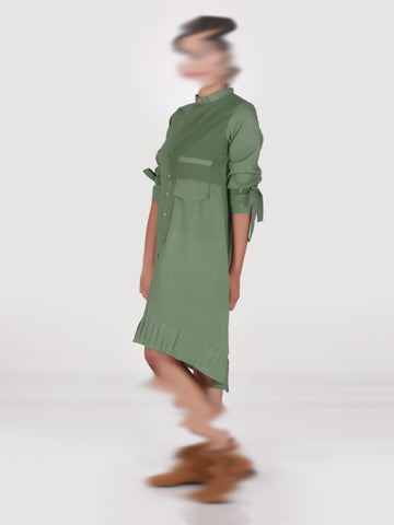 Mia – Olive Green Dress