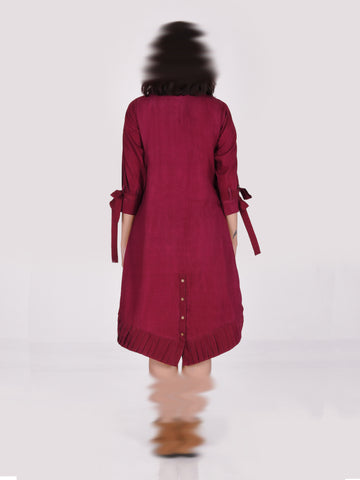 Mia – Burgundy Dress
