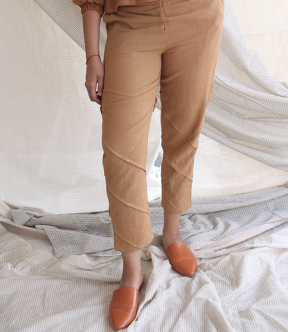 Pleat Pants - Tan Brown