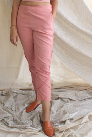 Pleat Pants - Pink