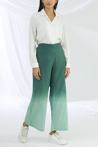 Ombre Wide Leg Pants - Green