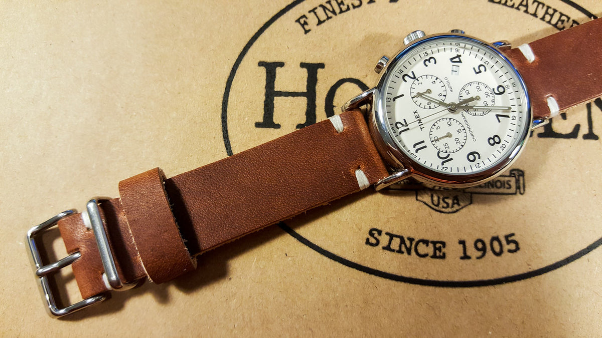 Why Horween Dublin Cognac leather is so great for watch bands making?