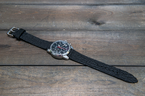 Shark leather for sophisticated watchstraps