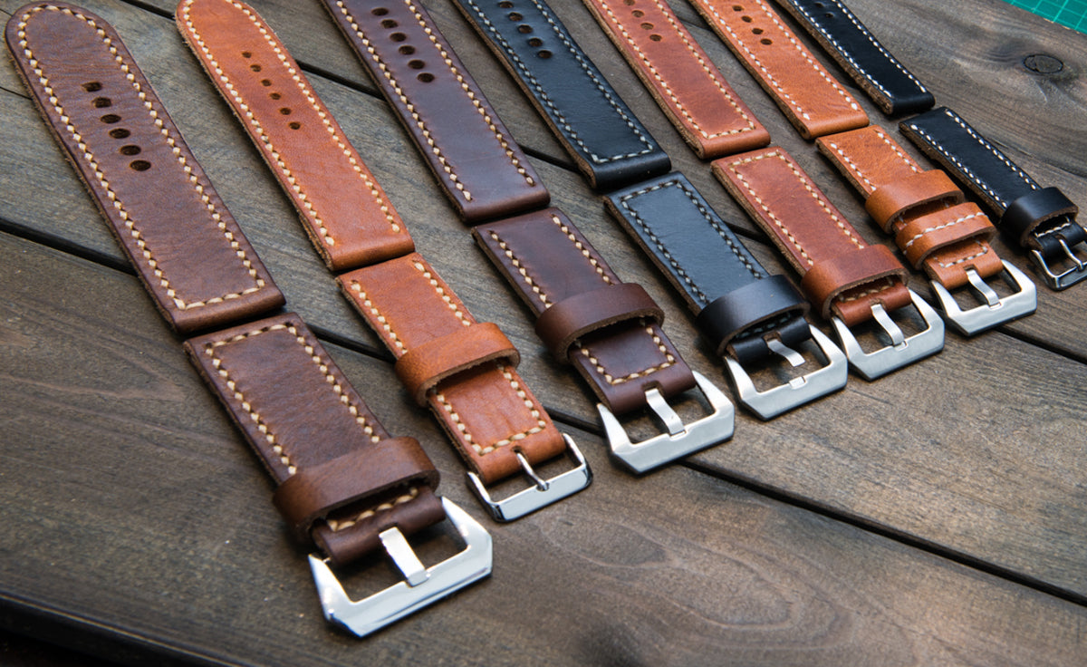 Premium hand-stitched leather watch bands