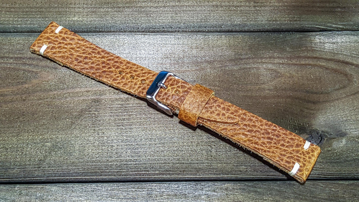Tapered leather watch bands