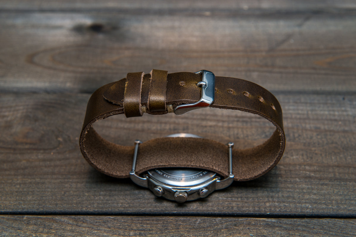 One-piece military watch strap