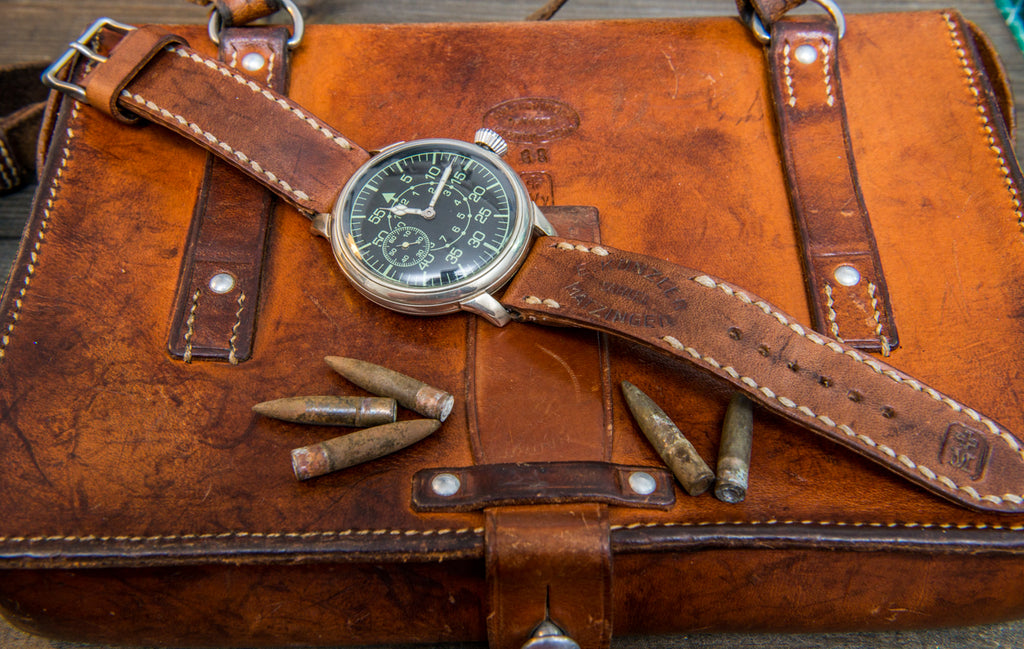 Vintage leather watch straps made of unique vintage leather from Switzerland, Sweden, France. hand-made to order in Finland.