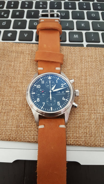 iwc leather watch band