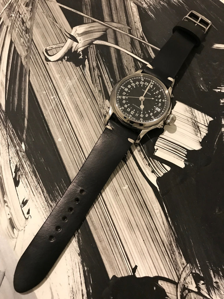 longines leather watch band