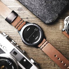 samsung gear, smart watch leather band