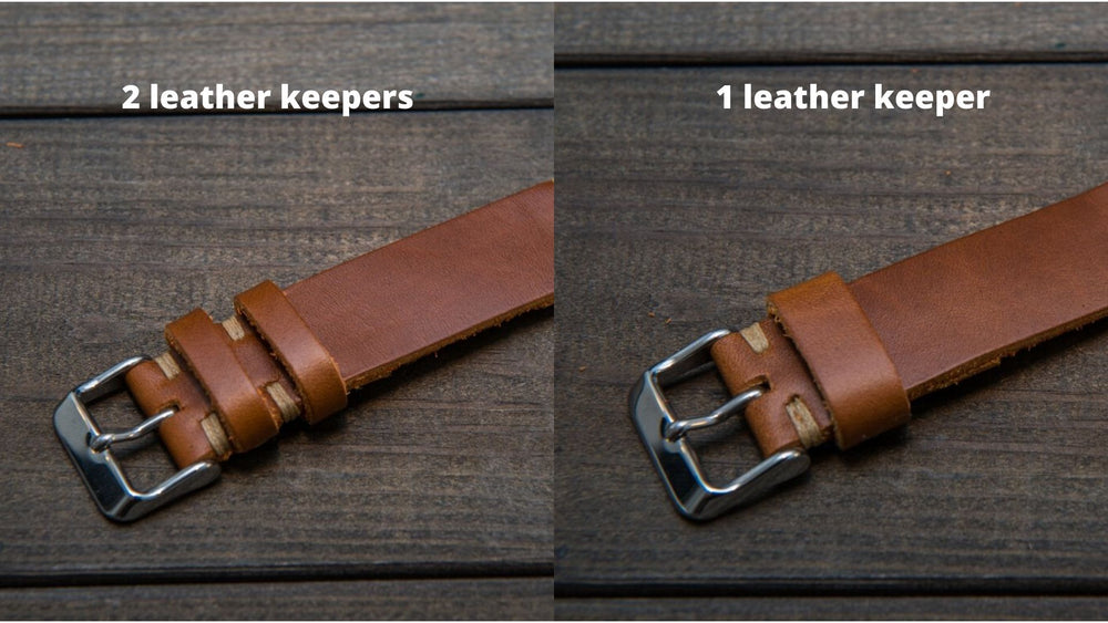 Whiskey Cavalier leather watch strap, handmade in Finland