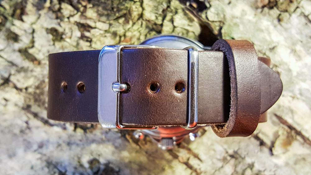 Brown Horween Chromexcel leather watch strap, handmade in Finland - 16mm, 17 mm, 18mm, 19mm, 20mm, 21 mm, 22mm, 23 mm, 24mm.