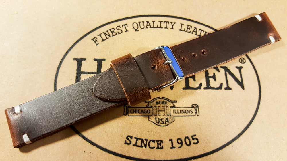 Phantom Waterproof Brown leather watch strap, 16 mm, 17 mm, 18 mm, 19 mm, 20mm,  21 mm, 22mm, 23 mm, 24mm, 25 mm, 26 mm.