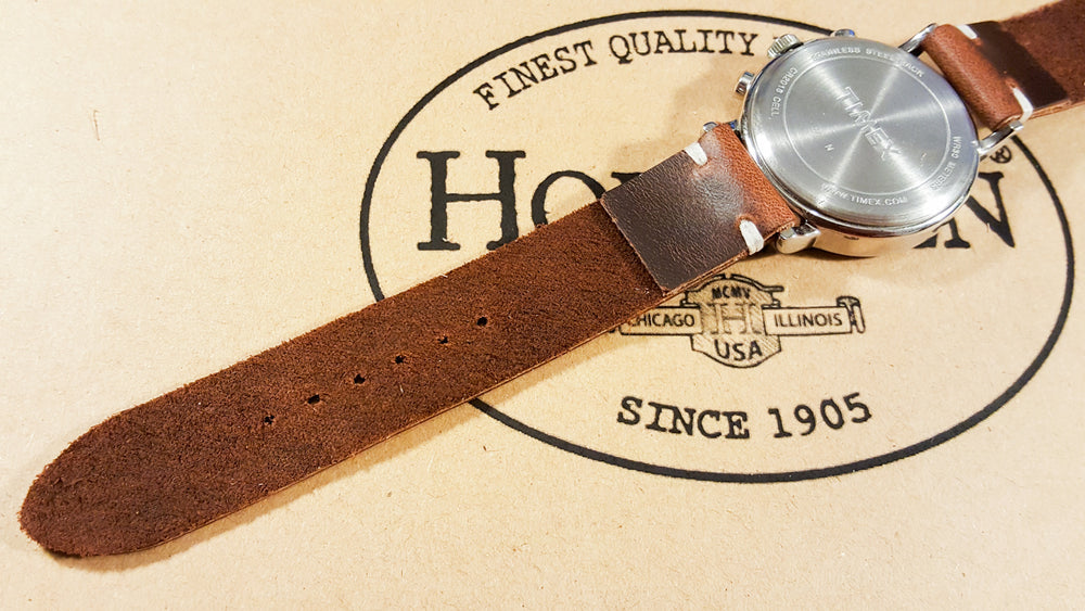 Phantom Waterproof Brown leather watch strap, 16 mm, 17 mm, 18 mm, 19 mm, 20mm,  21 mm, 22mm, 23 mm, 24mm, 25 mm, 26 mm. - finwatchstraps