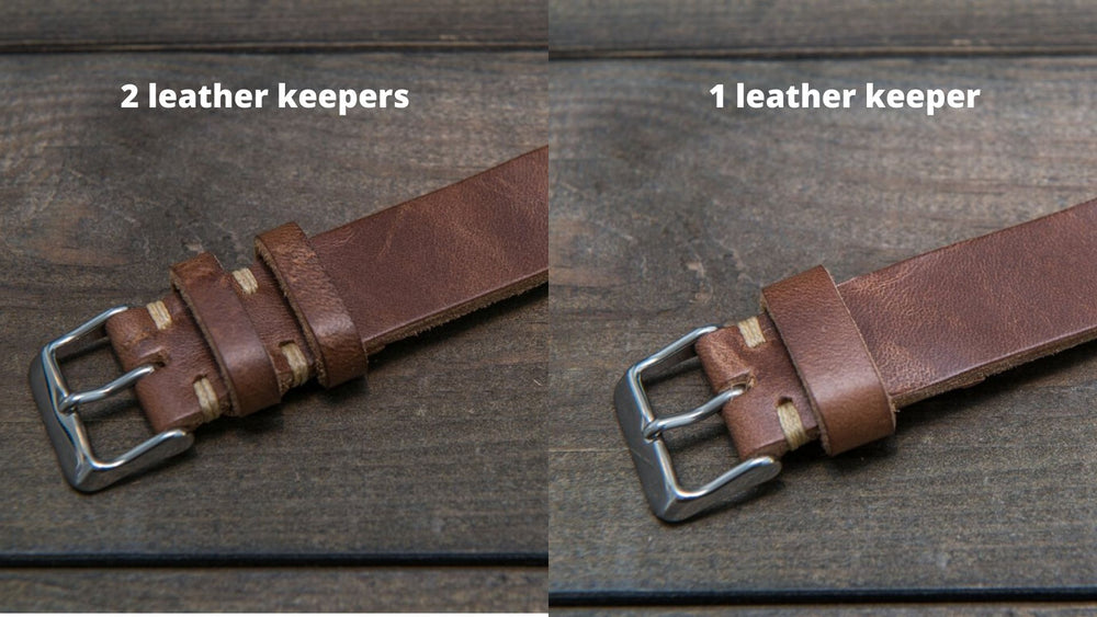 Tan Horween  Chxl, horsebutt, leather watch strap, handmade in Finland - finwatchstraps