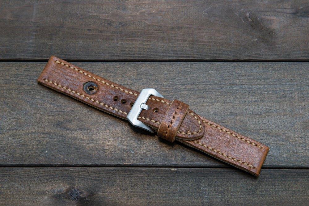 Vintage Ammo Watch band, thickness 4mm,  made from military pouch, dates back to 1950th-1960th - finwatchstraps