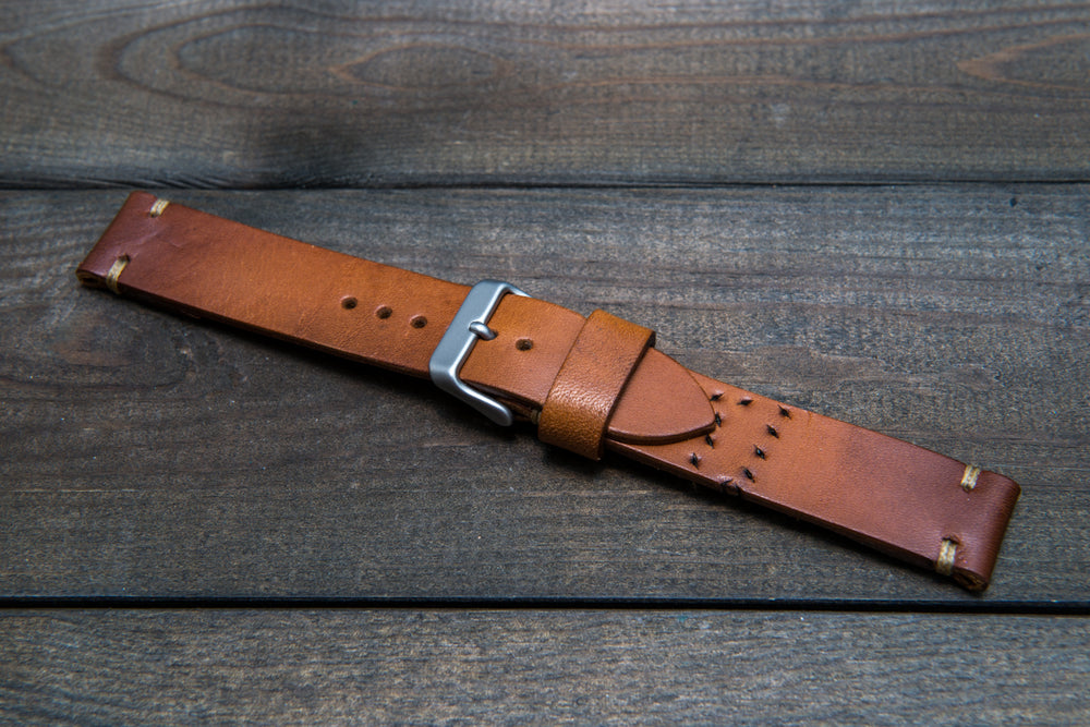 Vintage French Ammo Watch band, thickness 3-4 mm, made from ammo pouch dates back to 1960th-1970th - finwatchstraps
