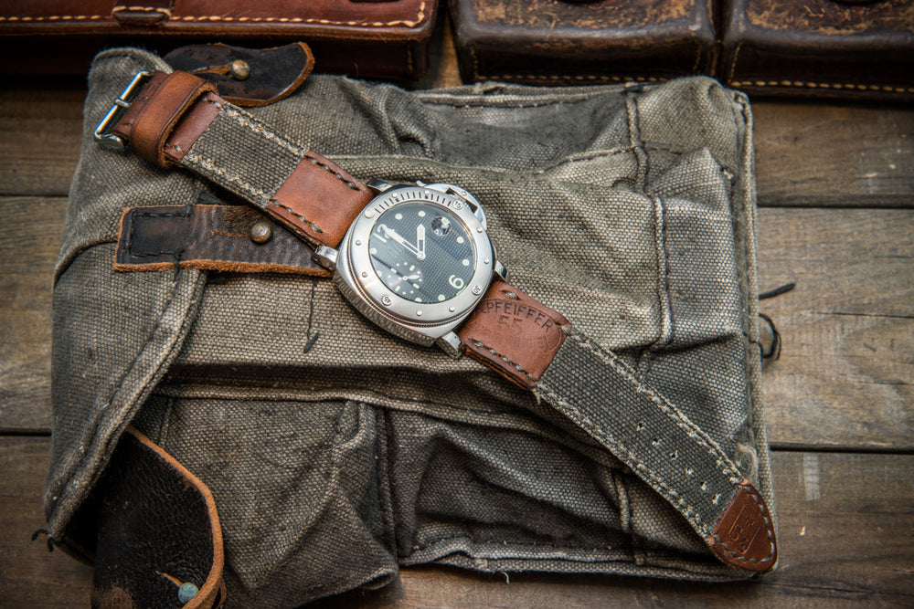 Vintage  Canvas ammo watch band, thickness 3 mm, made of USSA Kalashnikov army canvas pouches,  dates back to 1960th-1980th
