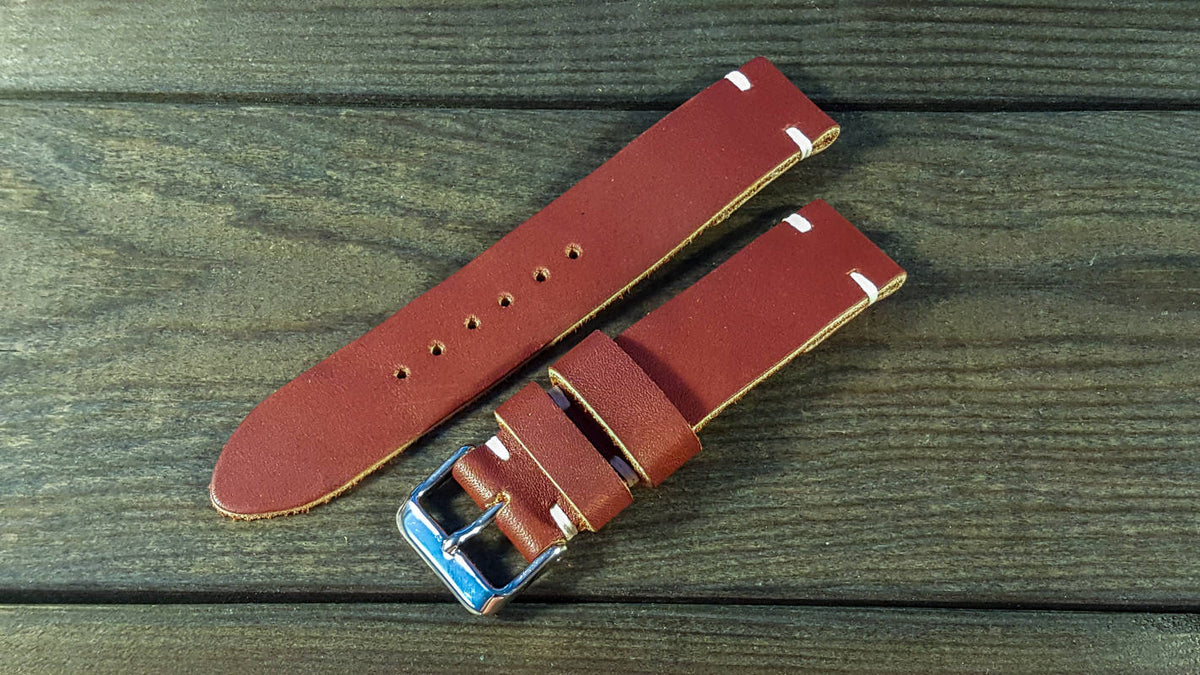 Canyon Horween leather watch strap, handmade in Finland - finwatchstraps