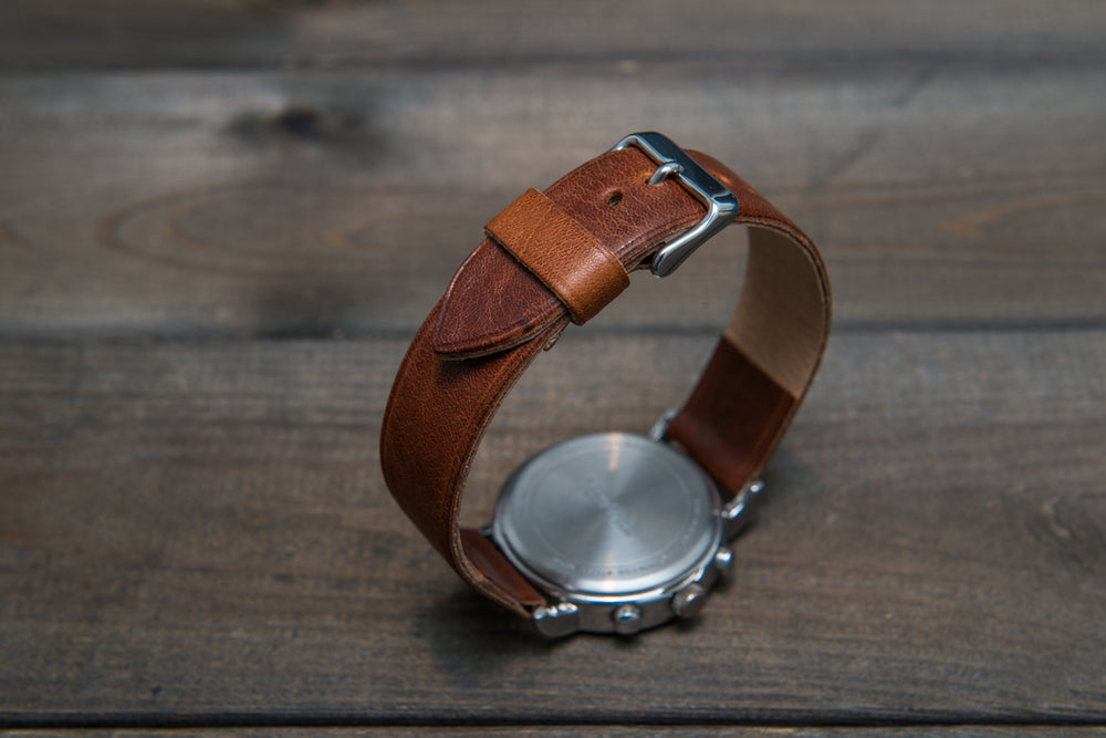Buttero leather watch strap, handmade in Finland - 10mm, 12 mm, 14 mm, 16mm, 17 mm, 18mm, 19 mm, 20mm, 21mm, 22mm, 23 mm,  24mm, 25 mm, 26 mm. - finwatchstraps