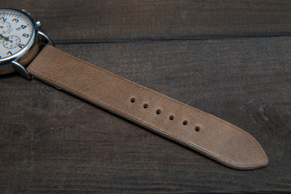 Camel leather watch strap, handmade in Finland - 10mm, 12 mm, 14 mm, 16mm, 17 mm, 18mm, 19 mm, 20mm, 21mm, 22mm, 23 mm,  24mm, 25 mm, 26 mm. - finwatchstraps
