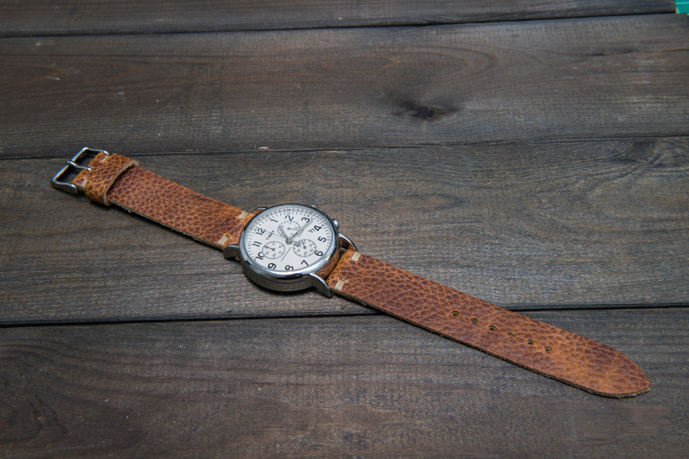 Buckaroo Tan  Horween leather watch strap, handmade in Finland
