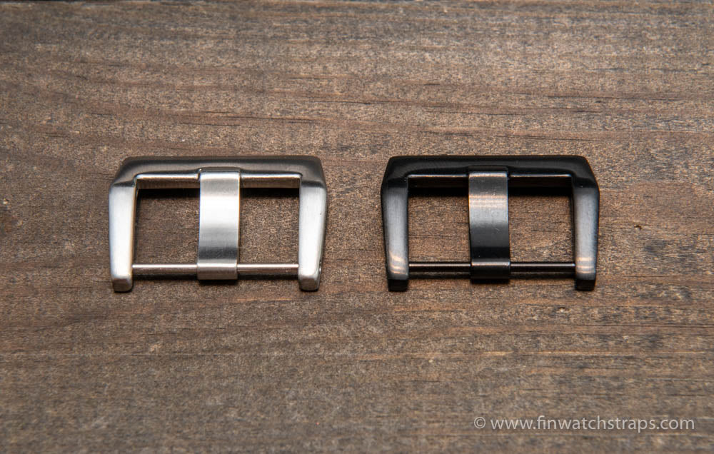Bell & Ross buckle, stainless steel silver and black, 24 mm