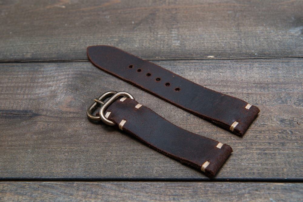 a230b7e9e8c4 ... Suede vintage leather watch strap (SNUFF)