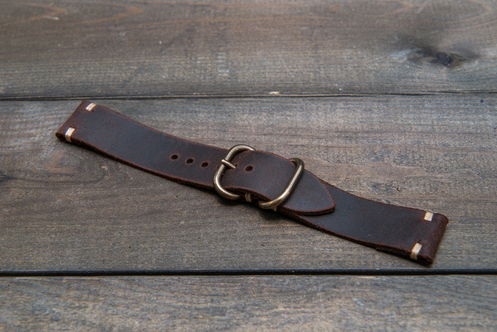 Suede vintage leather watch strap (SNUFF), handmade in Finland - 16mm, 17 mm, 18mm, 19 mm, 20mm, 21mm, 22mm, 23 mm,  24mm.