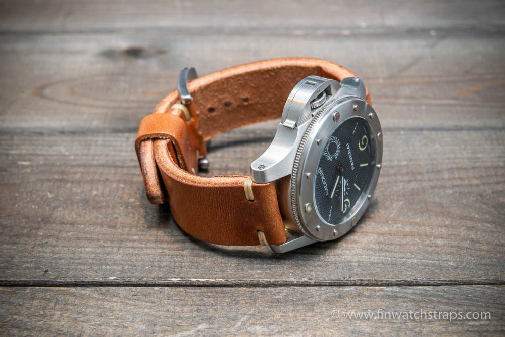 Wickett & Craig leather watch strap, 3,5-4 mm thick