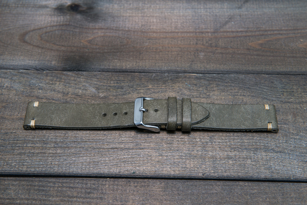 Badalassi Carlo, Pueblo Grigio leather watch strap. Hand-made to order in Finland. - finwatchstraps
