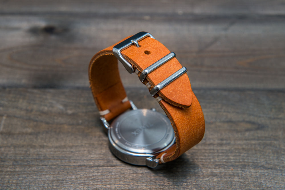 Badalassi Carlo, Pueblo Olmo leather watch strap. Hand-made to order in Finland. - finwatchstraps