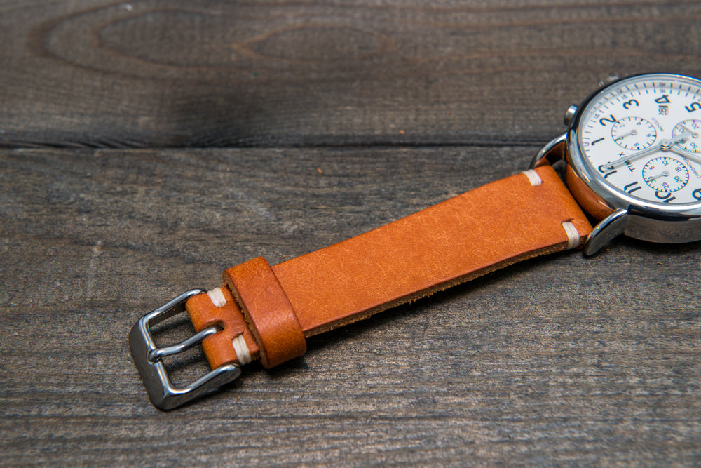 Badalassi Carlo, Pueblo Olmo tapered leather watch strap. Hand-made to order in Finland. - finwatchstraps