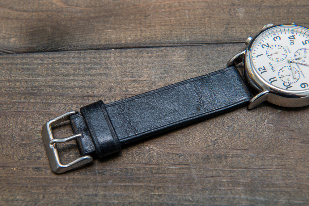 Suede vintage leather watch strap (Crazy Cow), handmade in Finland -14 mm, 15 mm, 16mm, 17 mm, 18mm, 19 mm, 20mm, 21mm, 22mm, 23 mm,  24mm, 25 mm, 26 mm. - finwatchstraps