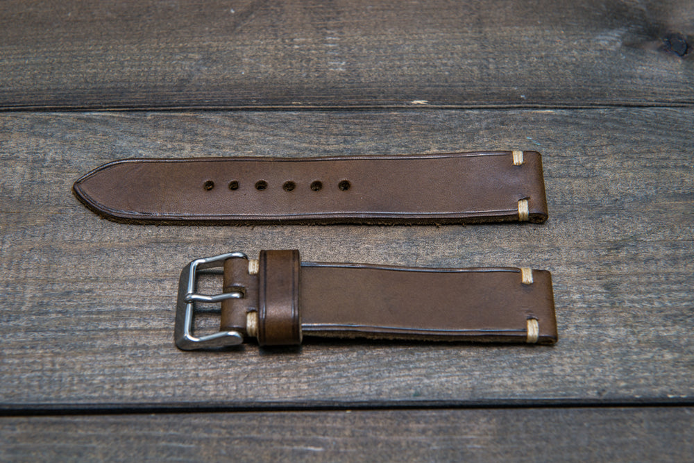 Badalassi Carlo,Minerva leather watch strap. Hand-made to order in Finland. - finwatchstraps
